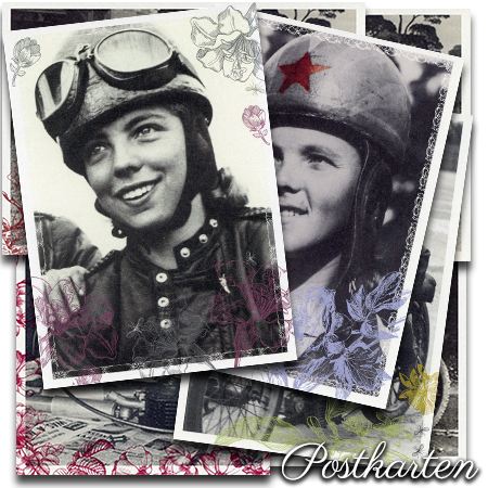 Postkarten Geschichtsweberei