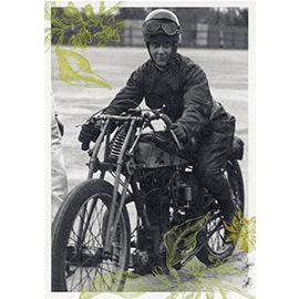 Rennfahrerinnen Postkarten