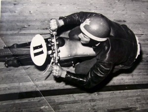 Werner Bock im Rennen